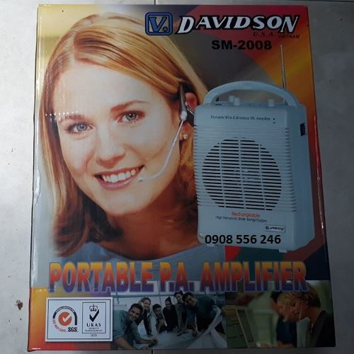 loa trợ giảng davidson sm-2008 bluetooth